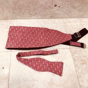 VINEYARD VINES Cummerbund Bow Tie Daiquiri PinkRed